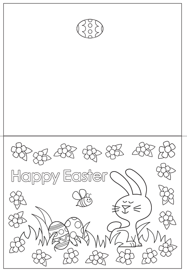 Black And White Easter Cards